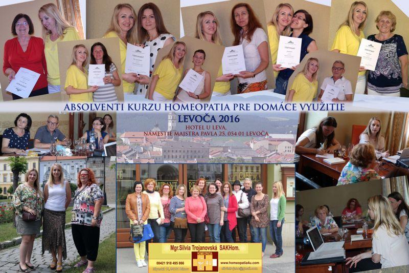 Absolventi - Kurz homeopatie v Levoči