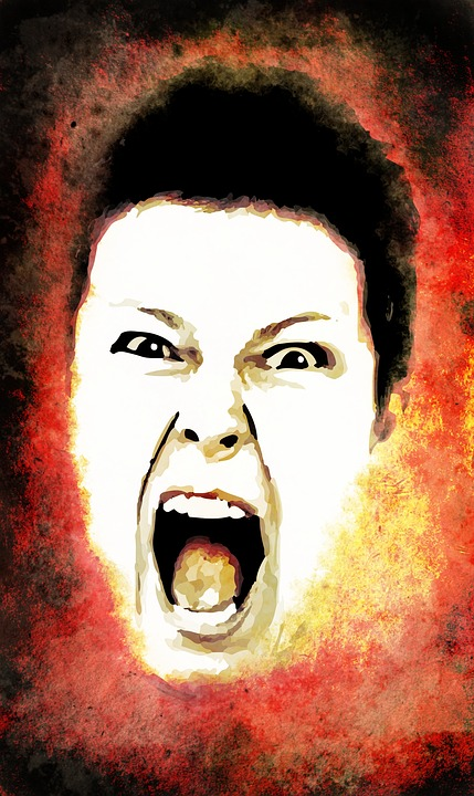 Kričiaca žena