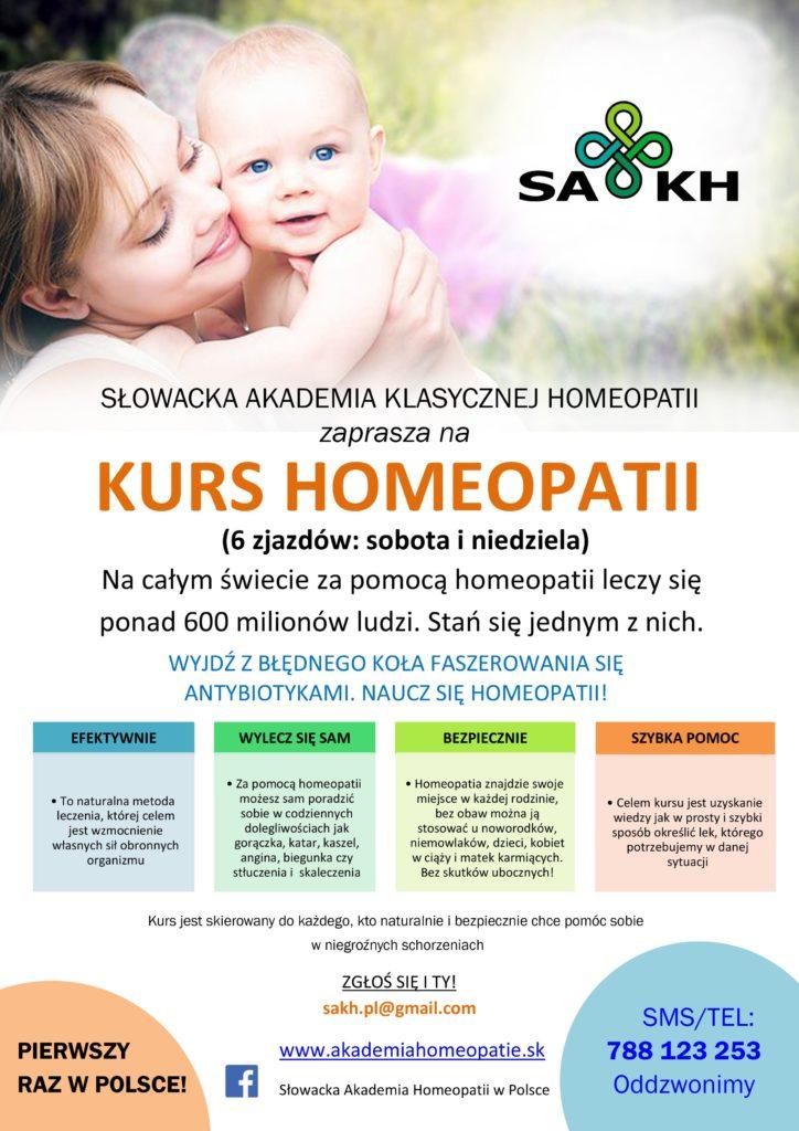 Kurs homeopatii SAKH v Polsce